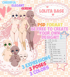 Lolita Base #Cheerful-Elegant-Serene (OPEN)