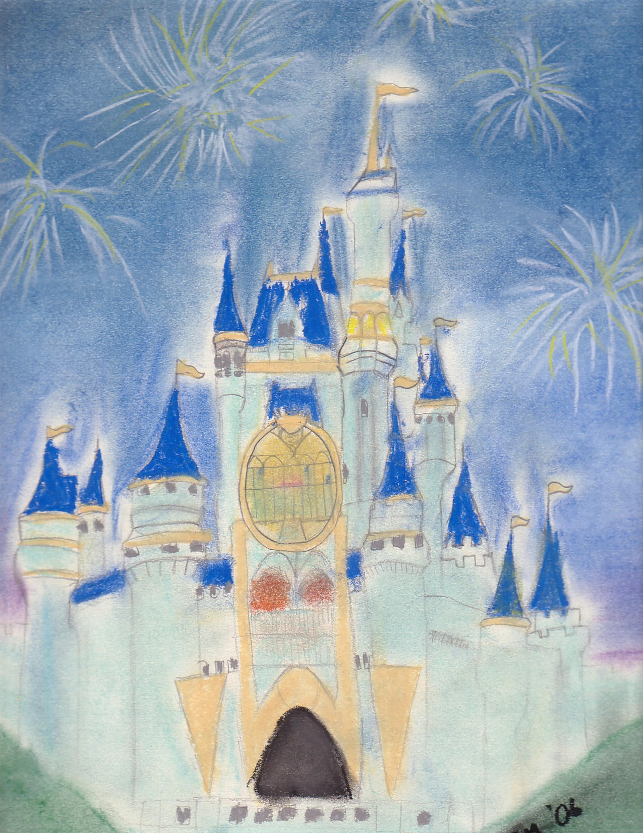 how to draw cinderella castle