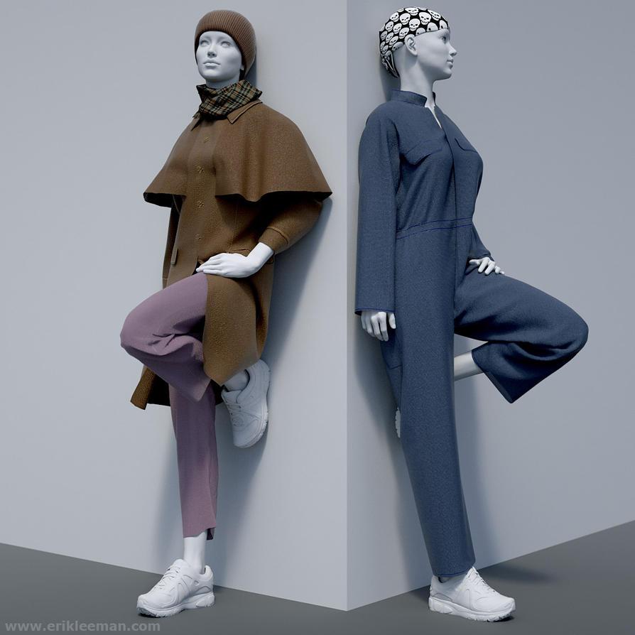 Vic6HD M4 dynamic clothing 01 by erik-nl