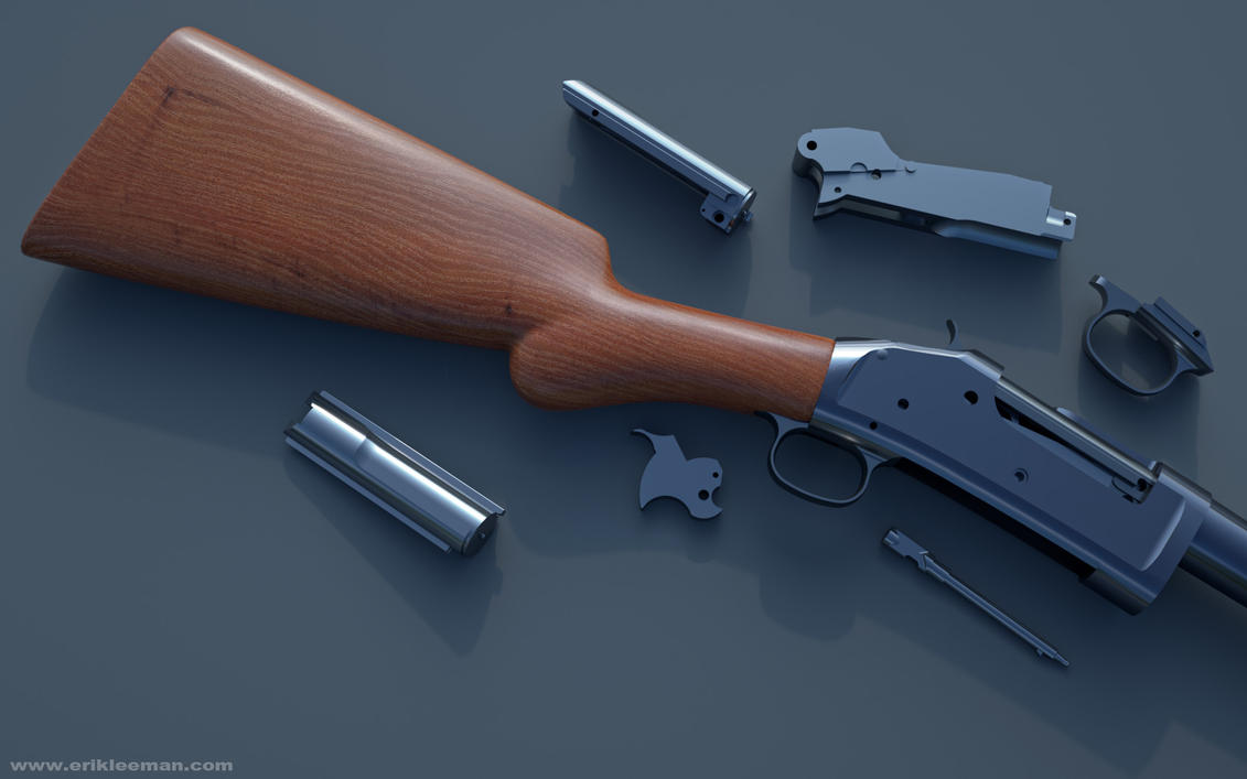 Winchester 1893 WIP by erik-nl