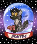 Path Hyena Snow Globe