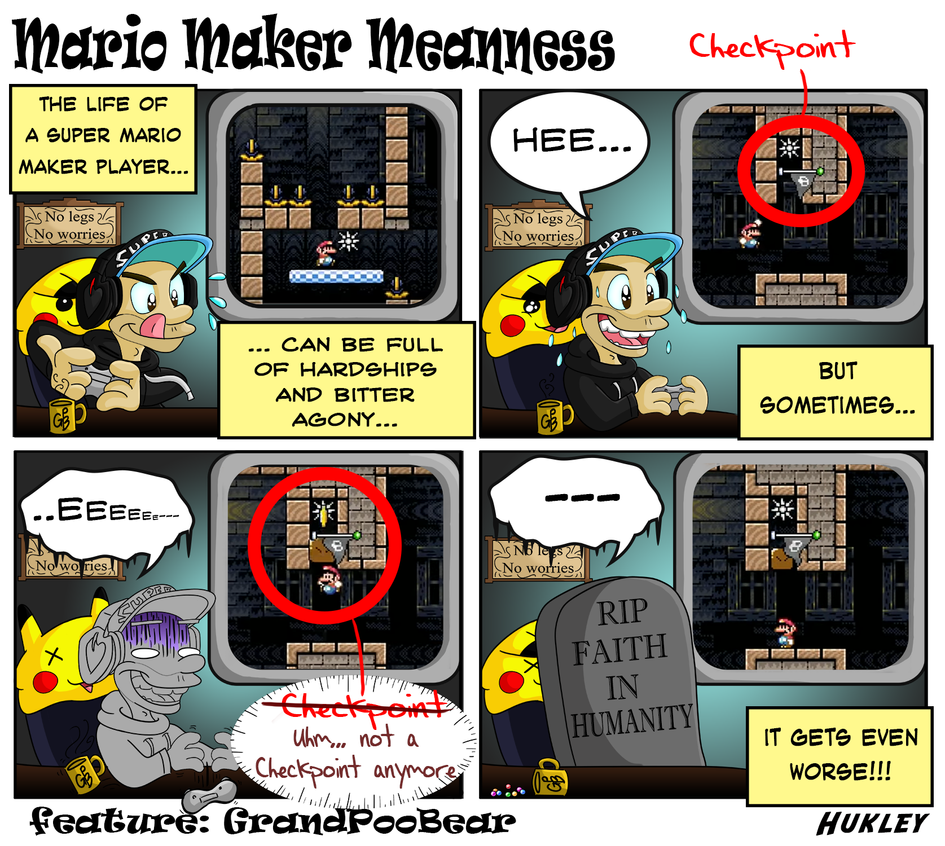 Mario Maker Meanness by Hukley