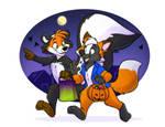 Fox and Skunk Halloween