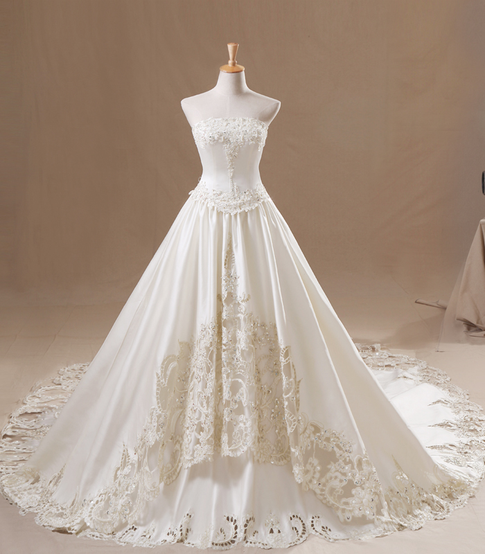 Beautiful strapless wedding dresses