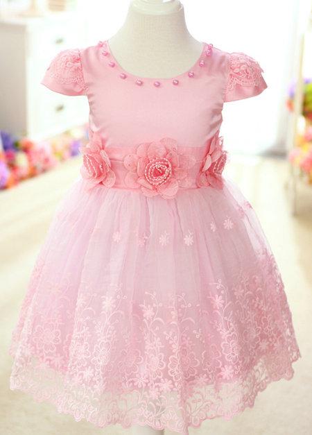 Pink princess flower girl dresses fashion dresses pink princess flower girl dresses mightylinksfo