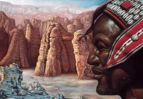 desert portrait by shambok