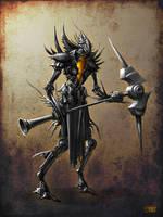 Spiky-demonic-cyborg-like-dude by ShamiesArt