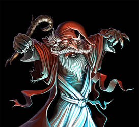 Human Wizard by ShamiesArt