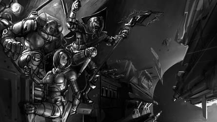 Space Pirates WIP by ShamiesArt