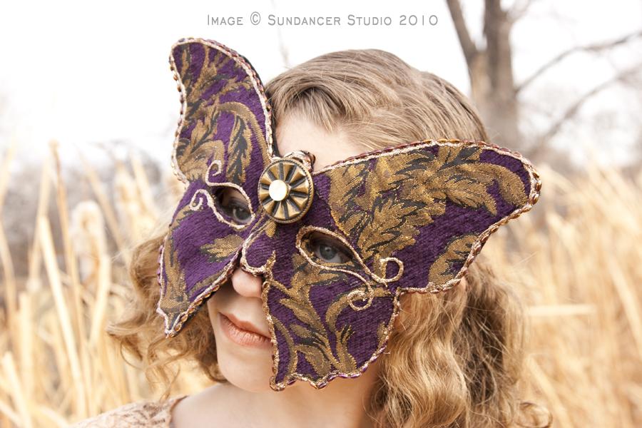 Purple Butterfly Mask by CostumeSalon