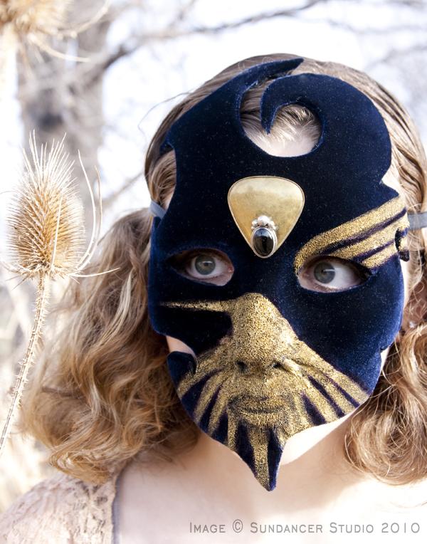 Deep Blue Velvet Mask 2 by CostumeSalon
