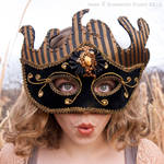 Black and Gold Stripped Mask 2