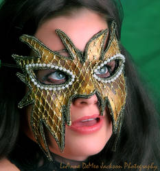 Gold and Black Mask of Mystery