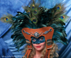 Aztec-Styled Deer Skin Mask