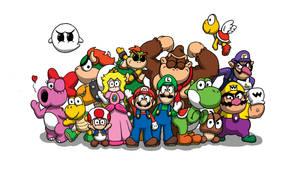 Super Mario by SketchyAntics