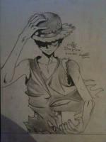 Luffy Drawing- One Piece by UNSJN