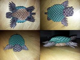 Turtle 3D Origami Model by UNSJN