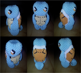 3D Origami Squirtle (Pokemon)
