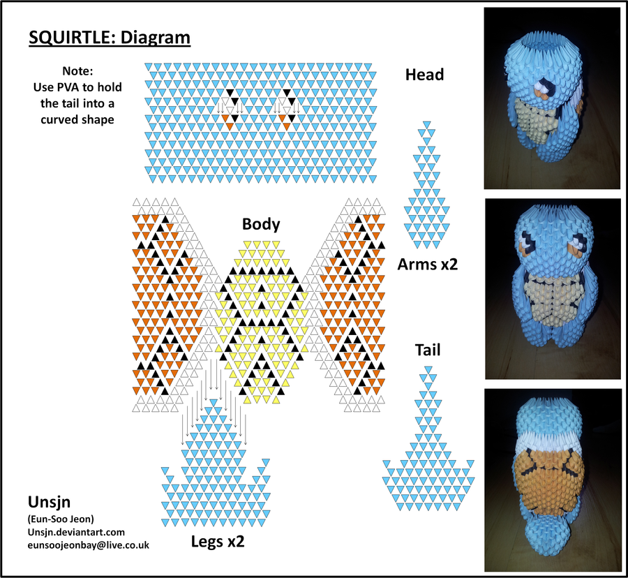 3D Squirtle Diagram by UNSJN on DeviantArt - photo#18