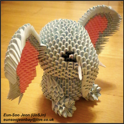 3d Modular Origami Elephant Side View By Unsjn On Deviantart Hazel soans african watercolours paper watercolor painting painter, wading elephants png. 3d modular origami elephant side view