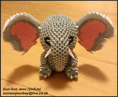 3D Modular Origami Elephant Front View by UNSJN on DeviantArt - photo#30