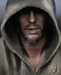 Brann, the hooded man