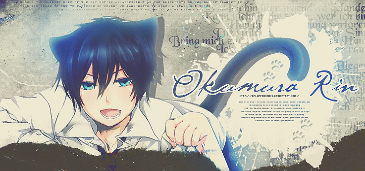Okumura Rin - neko by xFluffyBunnyx