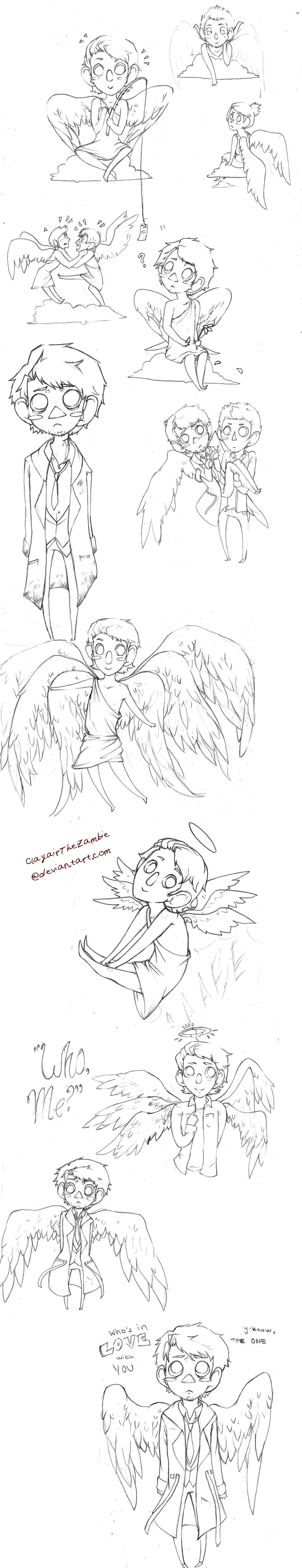 The Angels, They're Derping by ClayairTheZambie