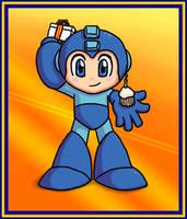 Mega Man Birthday by kelly42fox