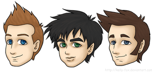 Green Day Chibi Heads by kelly42fox