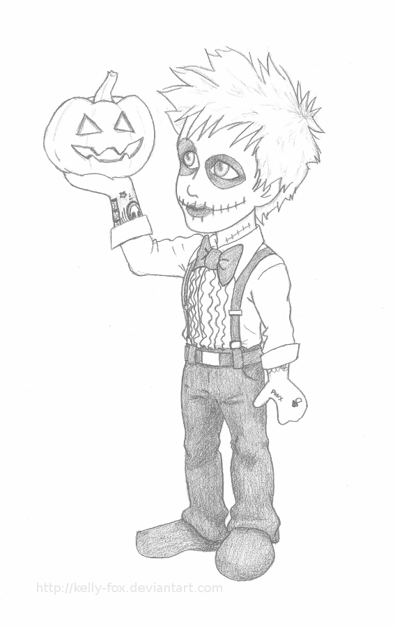 Billie Joe the Pumpkin King by kelly42fox