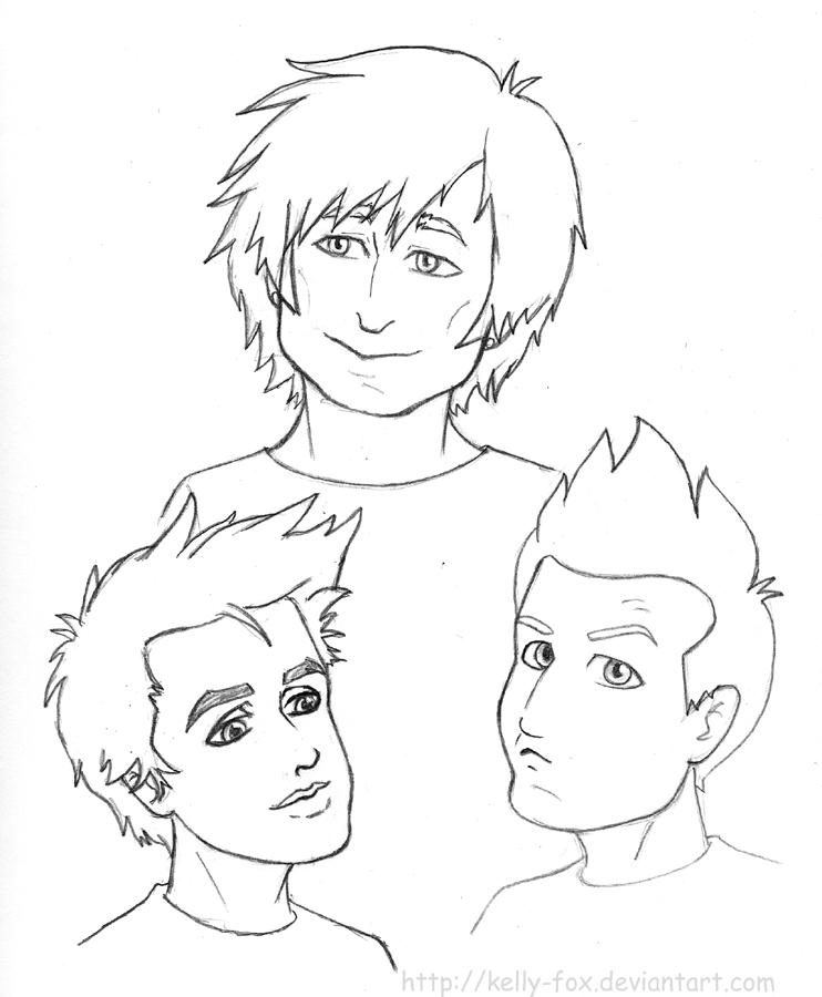 Green Day - Sketchdump 2 by kelly42fox