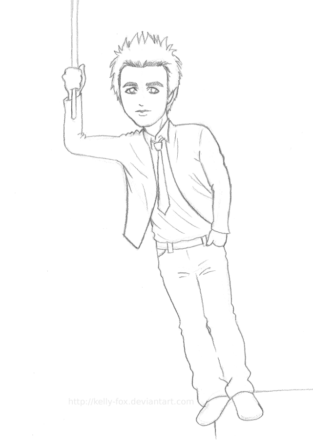 Billie Joe Pose Sketch 1 by kelly42fox