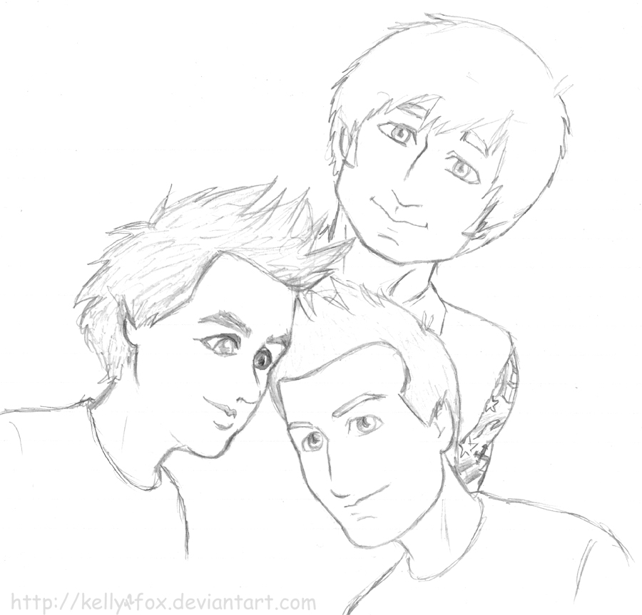 Green Day - sketchdump 5 by kelly42fox