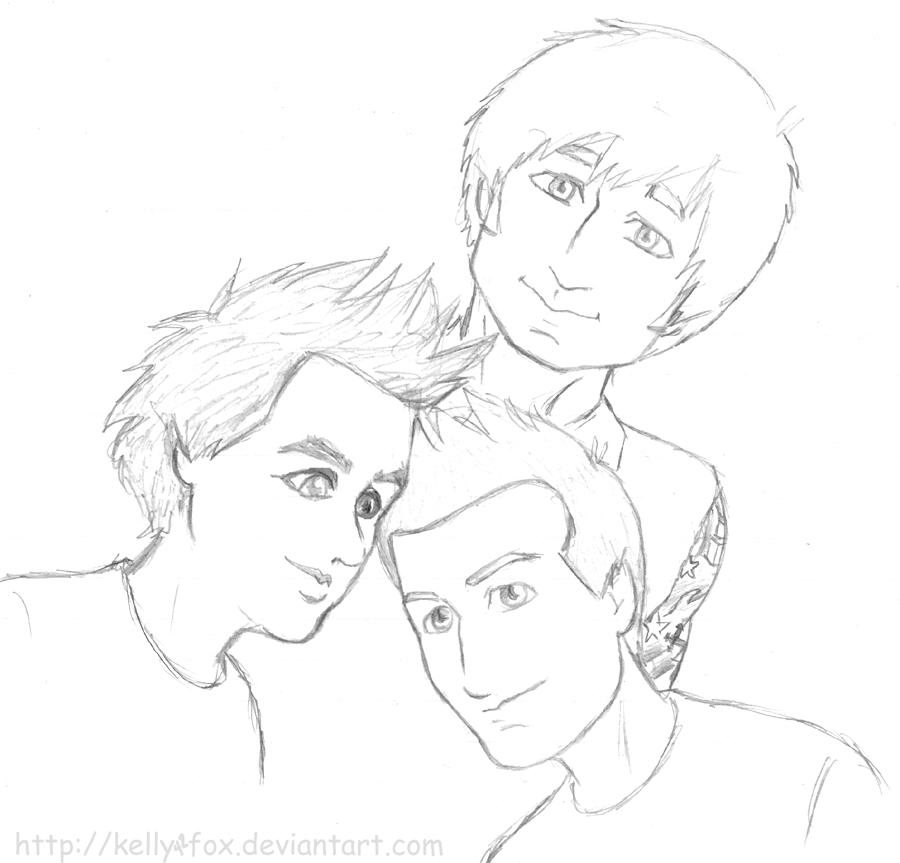 Green Day - sketchdump 5 by kelly42fox