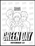 Green Day DOS Coloring Page