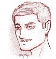 Supernatural - Demon Dean sketch by kelly42fox