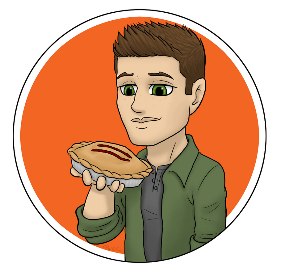 Supernatural - Dean 'n' Pie by kelly42fox