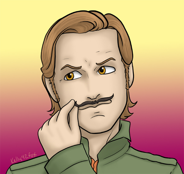 Supernatural - Gabe's Mustache by kelly42fox