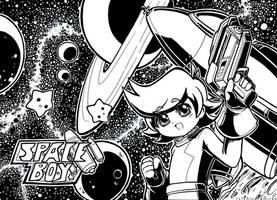 space boy space scene by chicaramirez