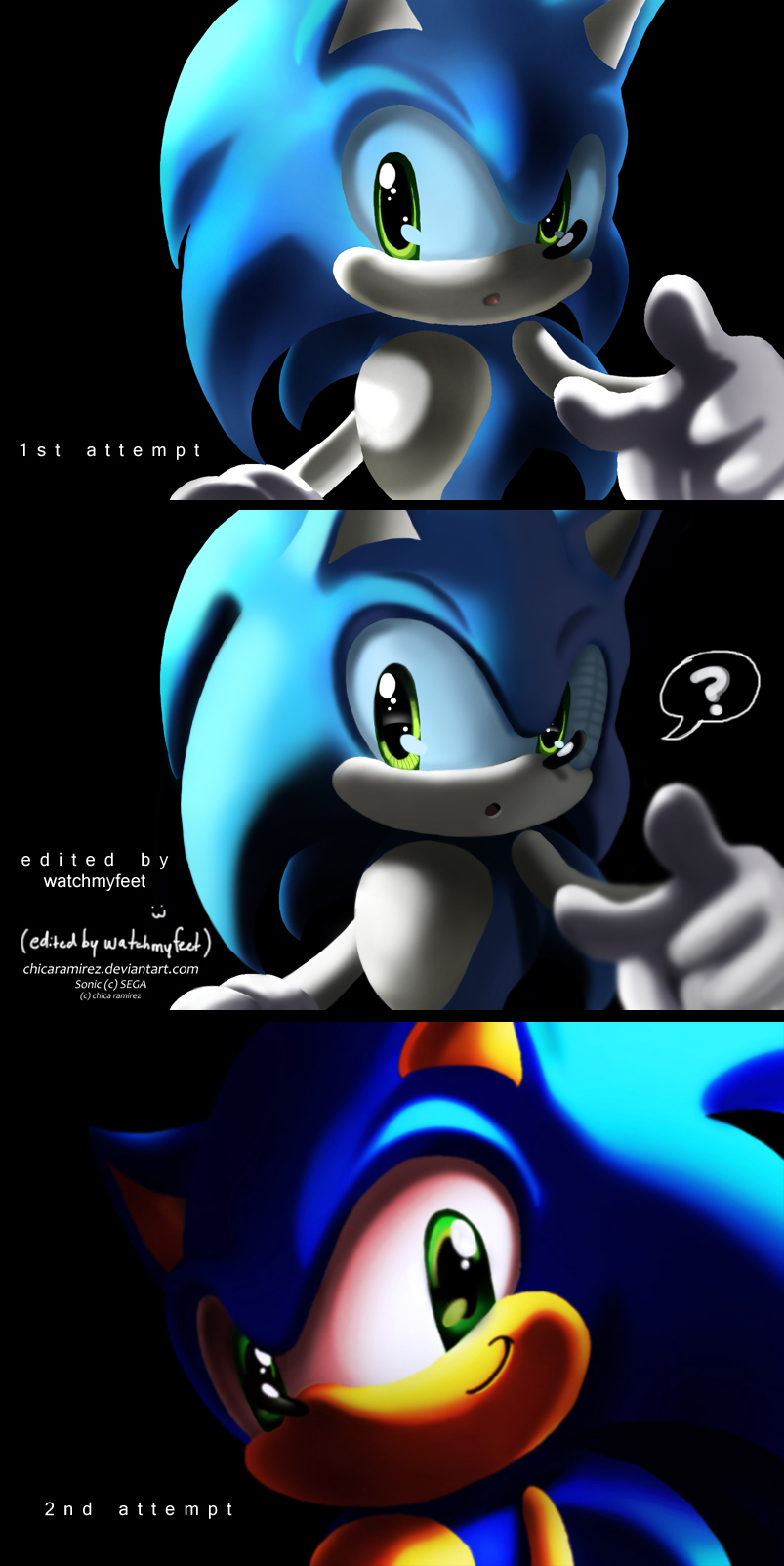 sonic from hell 3-d practice by chicaramirez