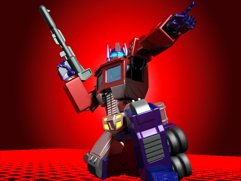 Optimus Prime - Action pose by MagusTheLofty