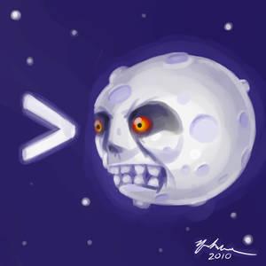 implying the moon