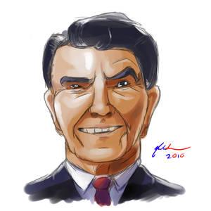 Cartoon Ronald Reagan