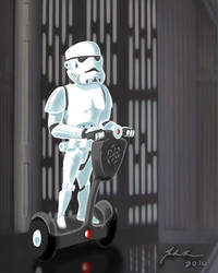 stormtrooper on a segway by TurnThePhage