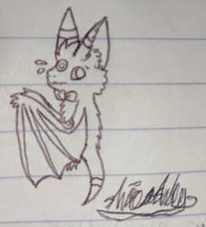 Sam as a bat (art trade for The Alolan Pokenerd)
