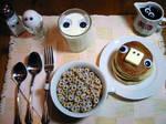 staring breakfast.