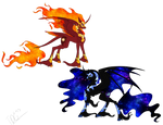 Nightmare Moon and Solar Flare