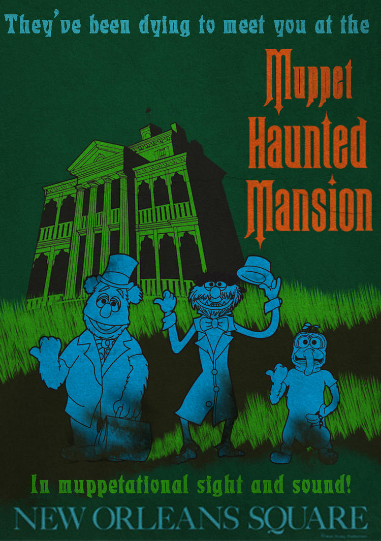 Muppet Haunted Mansion Poster 1 by Gr8Gonzo