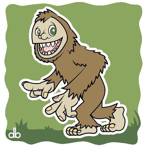Bigfoot Sticker by Gr8Gonzo